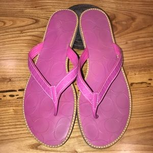 Coach Pink Leather Sandals